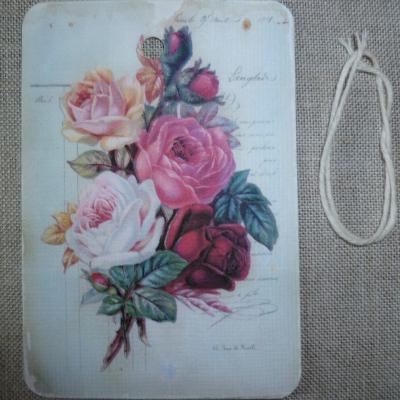 Etiquette Message Bouquet de Roses
