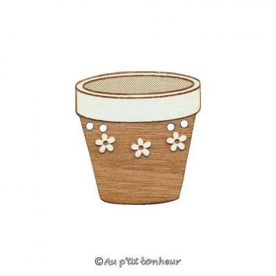 Bouton pot de fleurs, à fleurs BLFA165-160