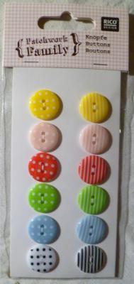 Pack de 10 Boutons Plastiques Ø 18mm Rico Design