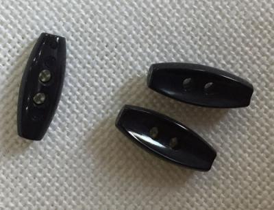 Bouton Bûchette Enfant 20 mm Noir