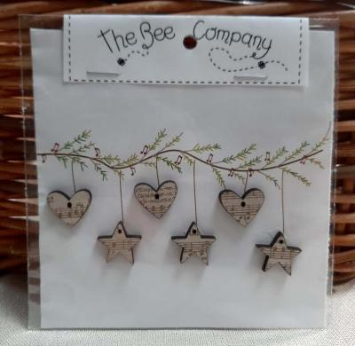 Etoiles et coeurs de Noël 'Silent Night' TB3M The Bee Company