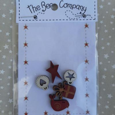 Boutons nichoirs de noël The Bee Company