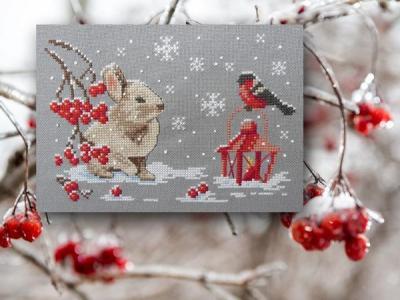 Bunny dans la neige 1062 Au Fil de Martine