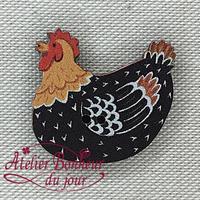 Poule Noire PM CA-27-N - Atelier Bonheur du jour