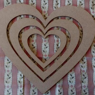Cadre Coeur mdf petit-moyen-grand