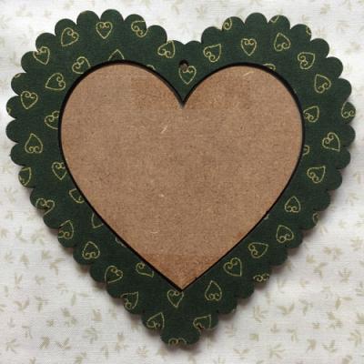 Cadre Coeur Noel Vert