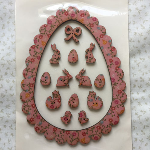 Cadre oeuf de paque rose av