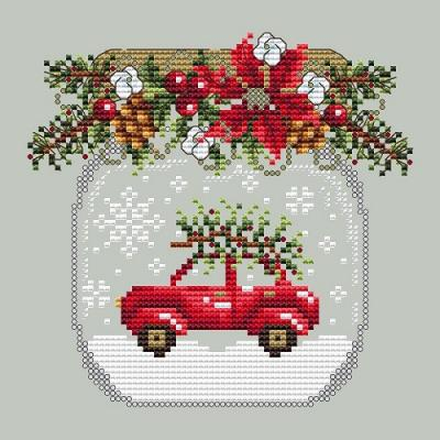 Car Snow Globe 'Boule à neige à la voiture rouge 'Shannon Christine Designs