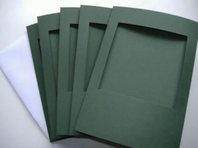 Carte à broder  Verte Fenêtre Carrée