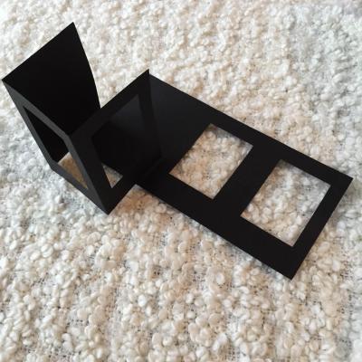 Carte à broder Noire Double Fenêtre Rectangulaire
