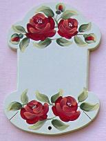 Cartonnette ecru roses rouge 1