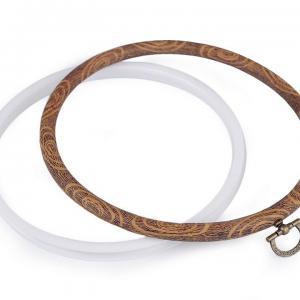 Cercle a broder decoratifs style bois o 16 cm interieur 3