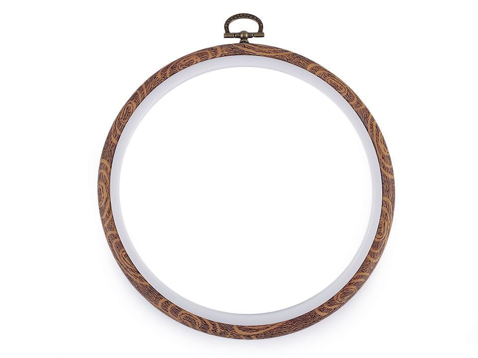 Cercle a broder decoratifs style bois o 16 cm interieur 4