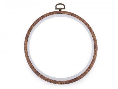Cercle à broder décoratifs style bois Ø 16 cm intérieur