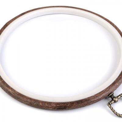 Cercle à broder décoratifs style bois Ø 20 cm intérieur