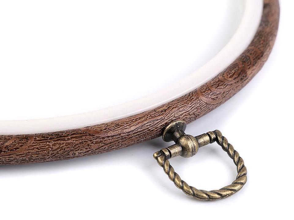 Cercle a broder decoratifs style bois o 20 cm interieur