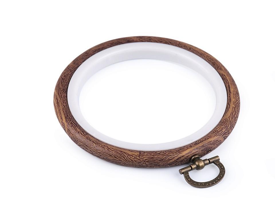 Cercle a broder decoratifs style bois o 8 5 cm interieur 1