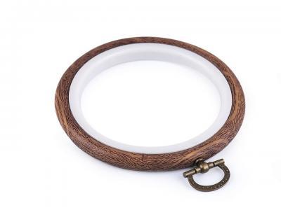Cercle à broder décoratifs style bois Ø 8,5 cm intérieur