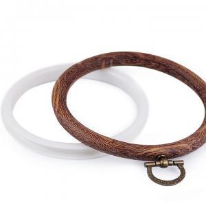 Cercle a broder decoratifs style bois o 8 5 cm interieur 3