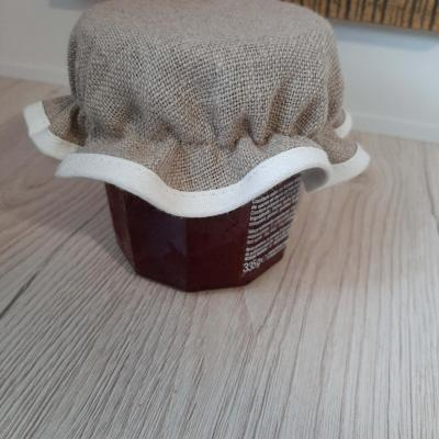 Chapeau de Pot Confiture à Broder Lin Ecru