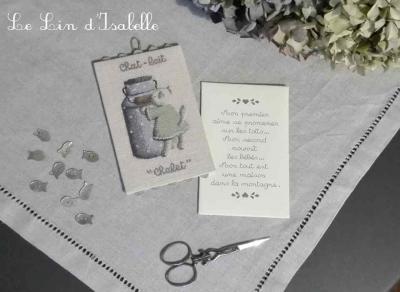 P'tite Charade 'Chat-Lait' Le Lin d'Isabelle