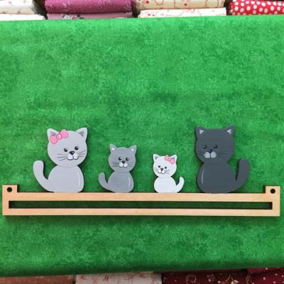 Cintre Famille Chat 20cm