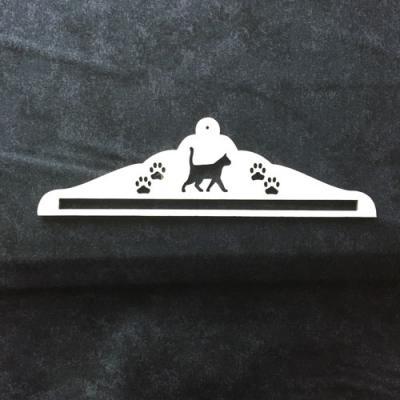 Cintre Chats et Empruntes BLANC 17.5cm