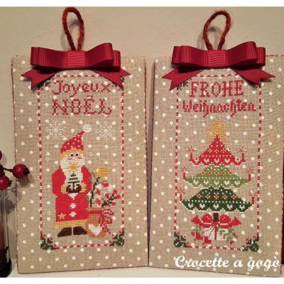 Christmas ornaments set 2 Crocette a gogò