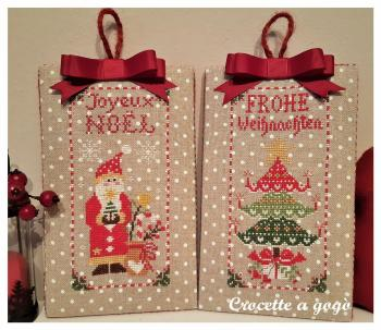 Christmas ornaments set 2 crocette a gogo