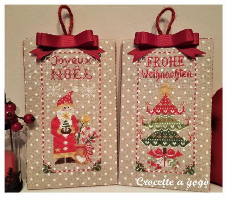 Christmas ornaments set 2 crocette a gogo