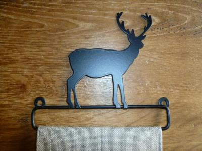 Cintre en Métal Noir Cerf 10cm Rico Design