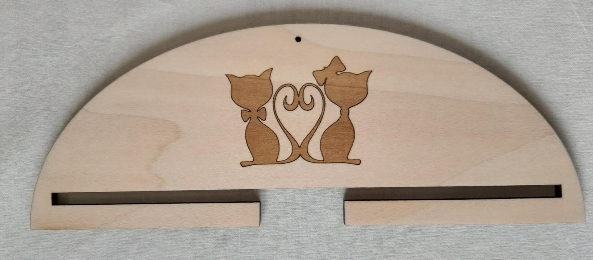 Cintre couple chats 10 cm
