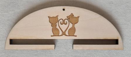 Cintre couple chats 20 cm