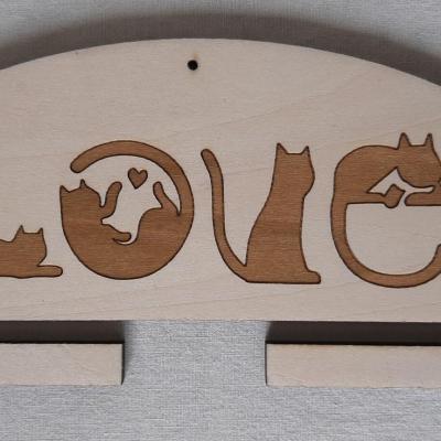 Cintre Chats Love 10 ou 20 cm