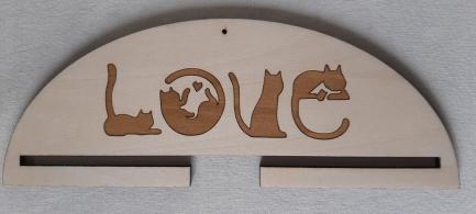 Cintre couple chats love 10 ou 20 cm
