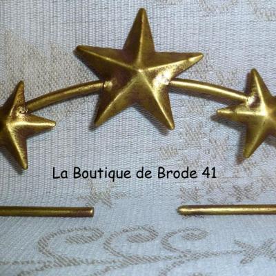 Cintre en Métal Etoiles Or 11cm Rico Design