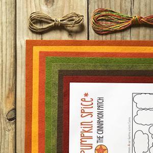 Citrouille pumpkin spice kit feutrine felt pumpkin kit cpk049 cinnamon patch