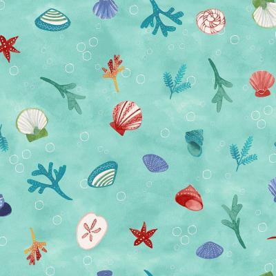Tissu Patchwork Clothworks Sanibel Aqua Y3206-33