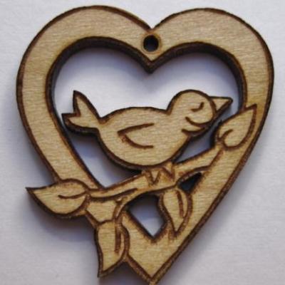 Coeur Ajouré et Oiseau Cat001