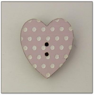 Coeur rose pale Z13079  Au P'tit Bonheur