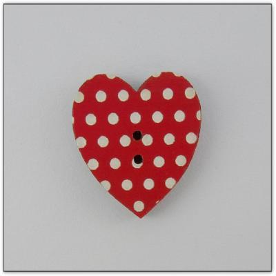 Coeur rouge pois Z13076  Au P'tit Bonheur