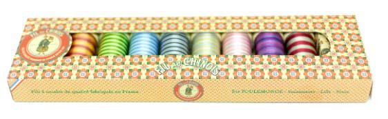 Coffret fil polyester multicolore fil au chinois