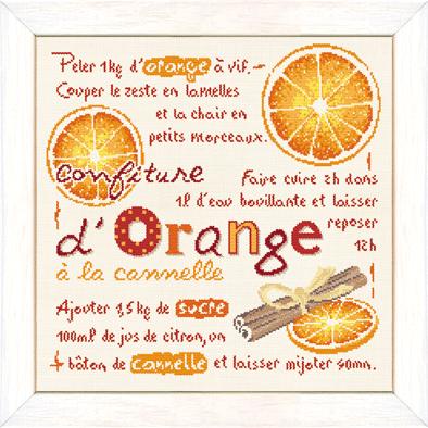 La confiture d'orange à la cannelle G024 Lilipoints