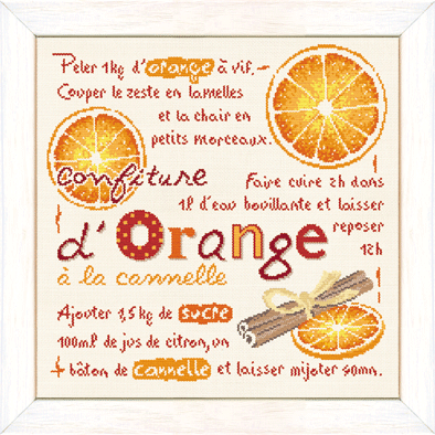 La confiture d'orange à la cannelle G024 Lilipoints