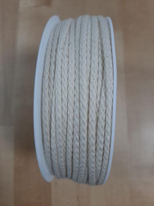 Cordon coton beige 4 mm