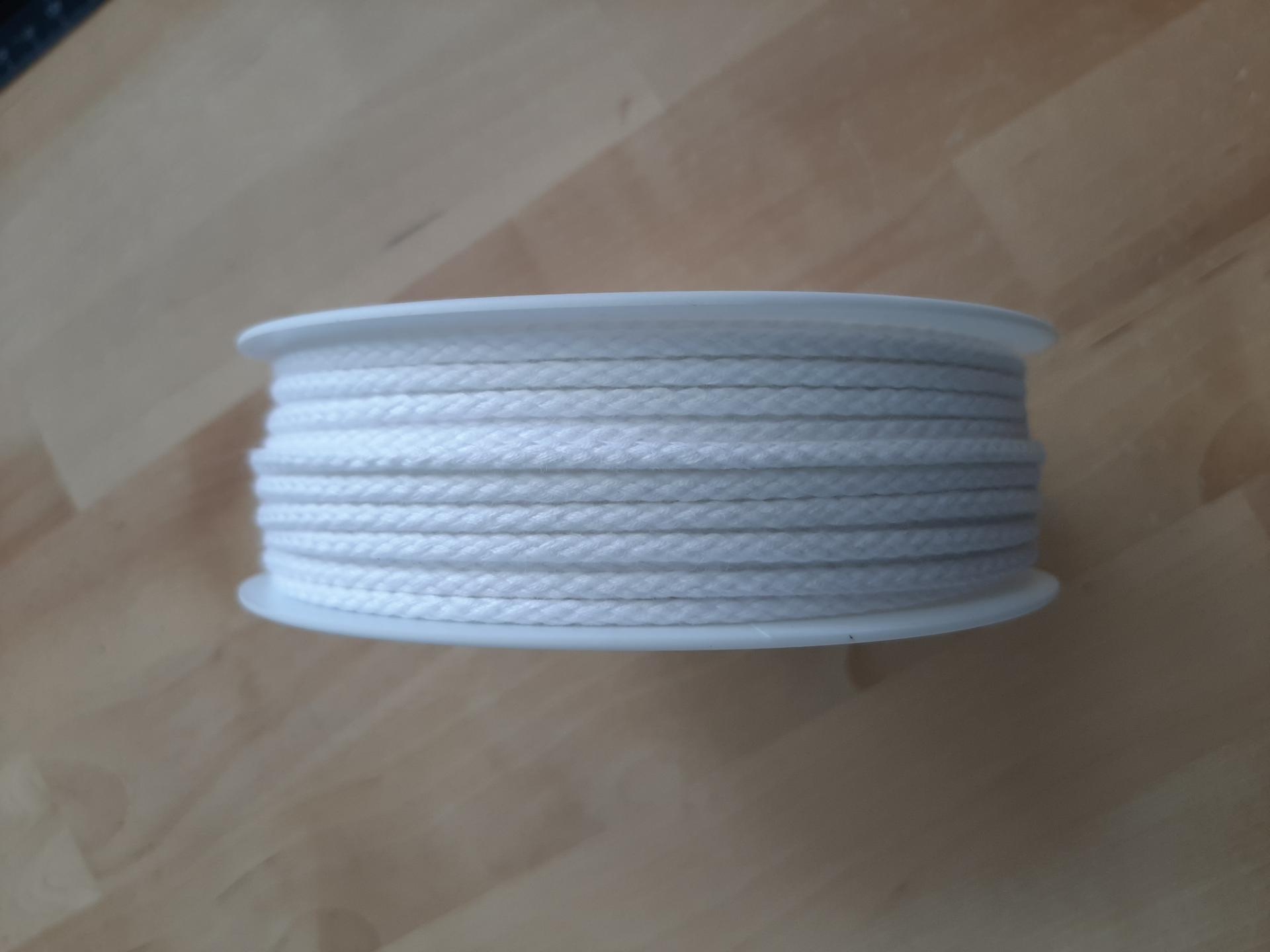 Cordon coton blanc 4mm