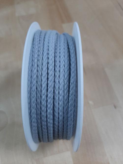 Cordon coton gris 4 mm 1