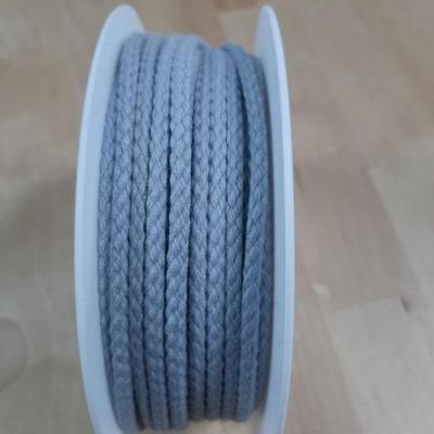 Cordon Coton Gris 4mm