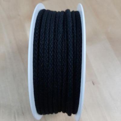 Cordon Coton Noir 4mm