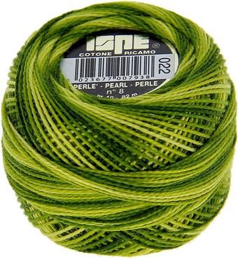 Coton perle 8 vert pomme 22